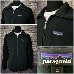 PATAGONIA XL FULL ZIP FLEECE POCKETS BLACK JACKET